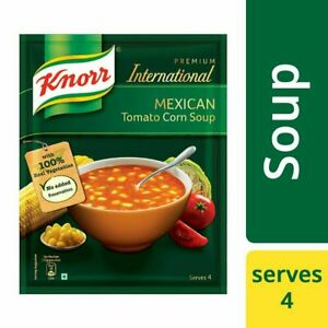Knorr Mexican Tomato Corn International Soup, 52g + Free Shipping world wide