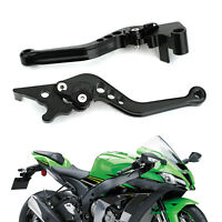 Brake Clutch Levers Fits Kawasaki Ninja 250 300 Black
