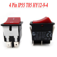 1PC KEDU Power On Off Rocker Switch Push Button 4 Pin IP55 T85 HY12-9-4Accessory