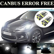 2 Pcs White Color LED Side Light Beam Bulbs CANBUS Error Free Fits For DS3
