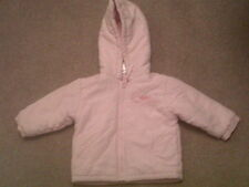 aged 12 - 18 months baby girls pink hooded coat zip up little princess Winter