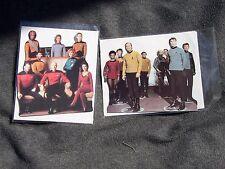 2 Star Trek Stand-Me-Up Greeting Cards - Original Series and Next Generation