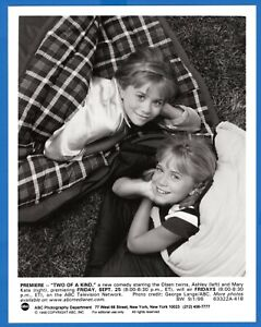 ASHLEY and MARY KATE OLSEN Twins 7x9 Vintage Promo Photo TWO OF A KIND 1998