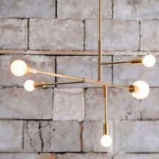 Modern  Simple Gold Chandeliers Pendant Light Lamp Metal Rod Ceiling Fixtures