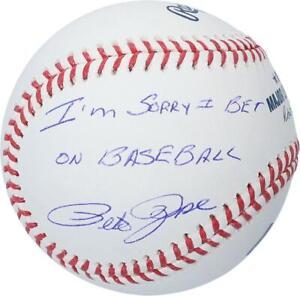 "Pete Rose Cincinatti Reds Signed Baseball & ""I'm Sorry I Bet on Baseball"" Insc"