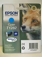 EPSON STYLUS SX130/SX235W ORIGINAL T1282 FOX CYAN (BLUE) INK CARTRIDGE
