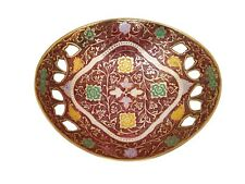 Metal Fruit Bowl Persian Mugal Minakari Work kitchen table decorative Brass Bowl