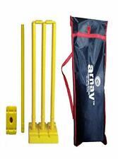 Plastic Cricket Stumps with 4-Stumps,2 Balles,1 Base of Single-Stump Bowler Side