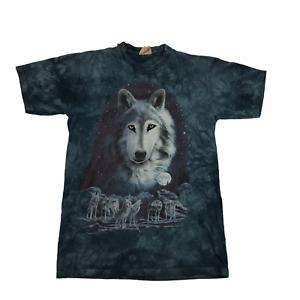 Vintage The Mountain Wolf T Shirt 1997 Single Stitch Blue Medium