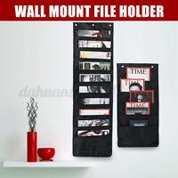 Wall Mount File Holder Hanging Paper Folder Magazine Storage Organizer Rack