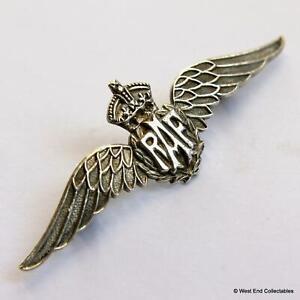 1930s WW2 RAF Wings Sweetheart Brooch Badge SILVER - Royal Air Force #A0016