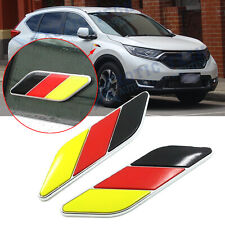 3D Germany Flag Premium Aluminum Emblem Badge For Auto Body Door Fender Stickers