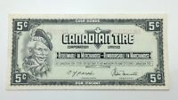 1974 Canadian Tire 5 Five Cents CTC-S4-B-AM Circulated Money Banknote E124
