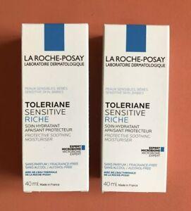 2 x 40ml La Roche-Posay Toleriane Sensitive Riche Moisturiser (Toleraine) 10/22