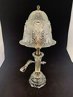1930-40s Glass Boudoir Table Lamp with Glass Shade