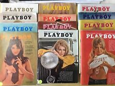 Playboy Magazine Full Year Set 1969  12 Issues. Complete Collection. Nude Lot
