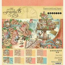 "Graphic 45 - Imagine 8x8"" Scrapbooking Paper Pad 24 sheets Steampunk"