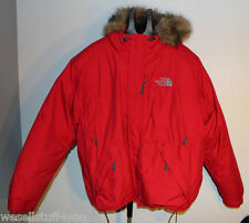 The North Face Red Insulated Jacket Men's XX-Large 2XL Parka Coat Hooded Used
