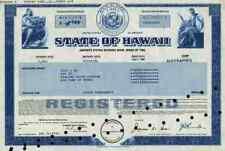 State of Hawaii Bond 1986 Honolulu County Pearl Harbor Hilo Kailua-Kona Kaneohe