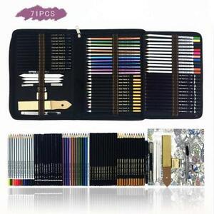 Professionale Matite Colorate Kit per Schizzo e Disegno Artistico,70 Colori...