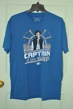 Disney Cruise Line Star Wars Sz XL Blue Han Solo Captain of the Ship T-Shirt