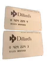 2- Vintage Dillard's Stix Baer & Fuller Dept Store Credit Card Unsigned