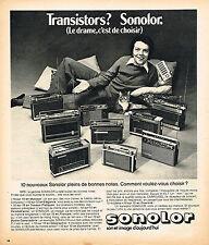 PUBLICITE ADVERTISING 114  1974  SONOLOR   transistors