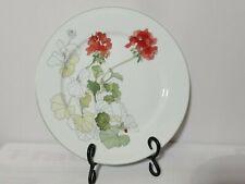 """Block Spal Geranium Watercolors Portugal 10.5"""" Dinner Plate 1981  BEAUTIFUL"""