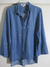 Cloth & Stone  1 pocket shirt tail  blue button down shirt size L  New