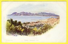 cpa 06 CANNES (Alpes Maritimes) PANORAMA Illustration Signée E. LESSIEUX