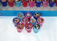 24 pc Disney Mickey Minnie Mouse Self Inking Stamper Pencil Topper School Supply