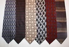 NEW Lot of 6 Designer Neck Ties w Geometric Patterns, DKNY, Van Heusen... L029
