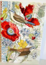 Punch Studio SUMMER GARDEN SONG BIRDS NOTE CARDS.  BEAUTIFUL!  Pk 12.
