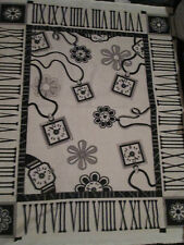 CLOCKS WATCHES TIME PIECES BLACK WHITE FLEECE FABRIC PANEL OOP