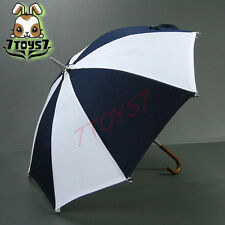 Wild Toys 1/6 Umbrella S2_ White & Blue _Fashion Foldable Working Bid WT015H