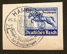 GERMANY 1940,  Blue Ribbon on piece    Scott B172