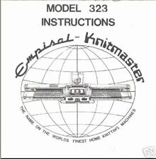 Knitmaster Knitting Machine Instruction Book Model 323