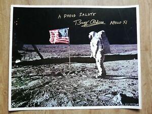 Original Buzz Aldrin Apollo 11 autograph signed large vintage 16x20 photo