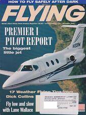 Flying Magazine (Nov 2001) (Raytheon Premier I Pilot Report, Night Flying, NTSB)