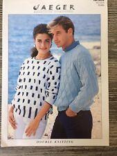 "Jaeger Knitting Pattern: Mens & Ladies Sweaters, DK, 30-44"", D6558"