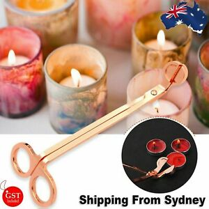 Rose gold Candle Wick Trimmer Scissors Stainless Steel Candle Cutter Snuffers AU
