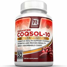 COQ10 100mg Ubiquinone Heart Health 2.6X Higher Total Coenzyme Q10 COQSOL 60 Gel