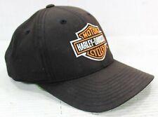 Harley-Davidson Black Snapback Baseball Hat Cap Adjustable Iconic Logo on Front