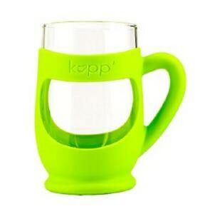 Kupp' Glass BPA Free 6 oz. Drinking Cup with Silicone Handle for Kids-Green