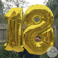 "18th Birthday Helium Foil Balloons 40"" Large Party Decorations Float Gold Silver"
