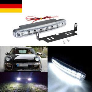 2x LED Tagfahrlicht Tagfahrleuchten TÜV DRL Universal Auto Scheinwerfer DC12V