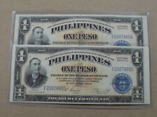 PHILIPPINE VICTORY PESOS SIGNED BY GENERAL MACARTHUR VERY RARE CRISP COPIES U.S