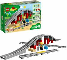 LEGO 10872 Duplo Town Train Bridge And Tracks Extension Building Toy Playset