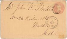 1860'S US Scott U35 Fort Scott Kansas TERRITORIAL Cover Bullseye FANCY Cancel
