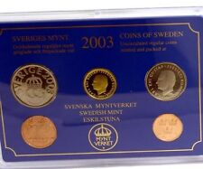 Sweden Coins Krone Full Set In Blister Official 5 Coins BUNC new KMS 2003